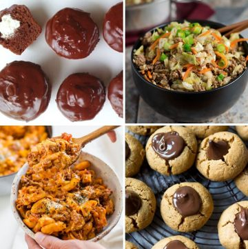 collage of four different healthy comfort food recipes