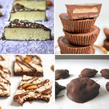 collage of four Easter candy recipes