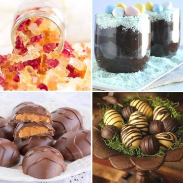 collage of four different healthy Easter-desserts