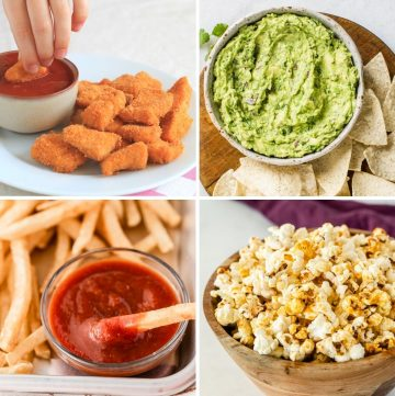 collage of different healthy Memorial Day recipes