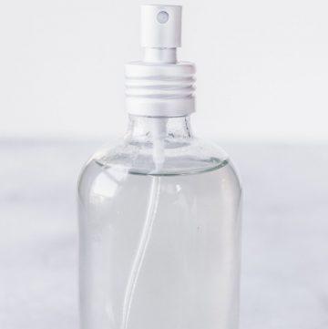bottle of hair spray