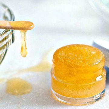 lip scrub in small container jar