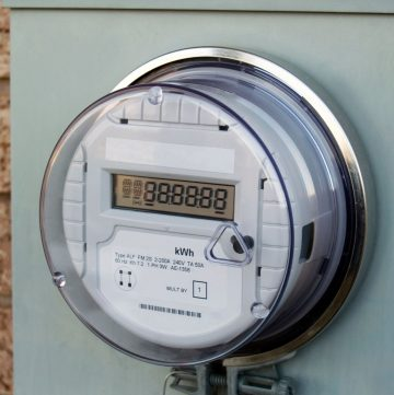 smart meter on the wall