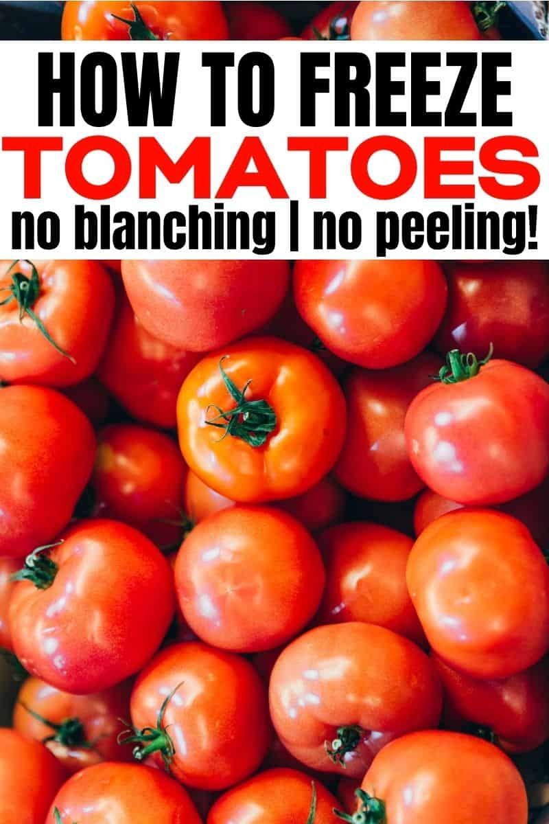 pinterest image for post about how to freeze tomatoes